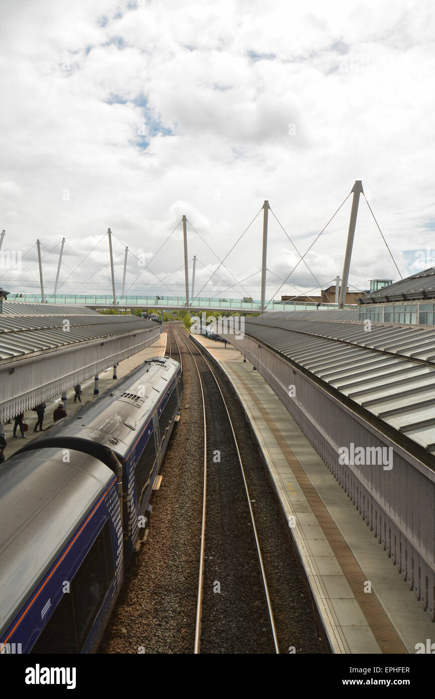 ScotRail Train at the platform of Stirling Railway Station - Stock Image