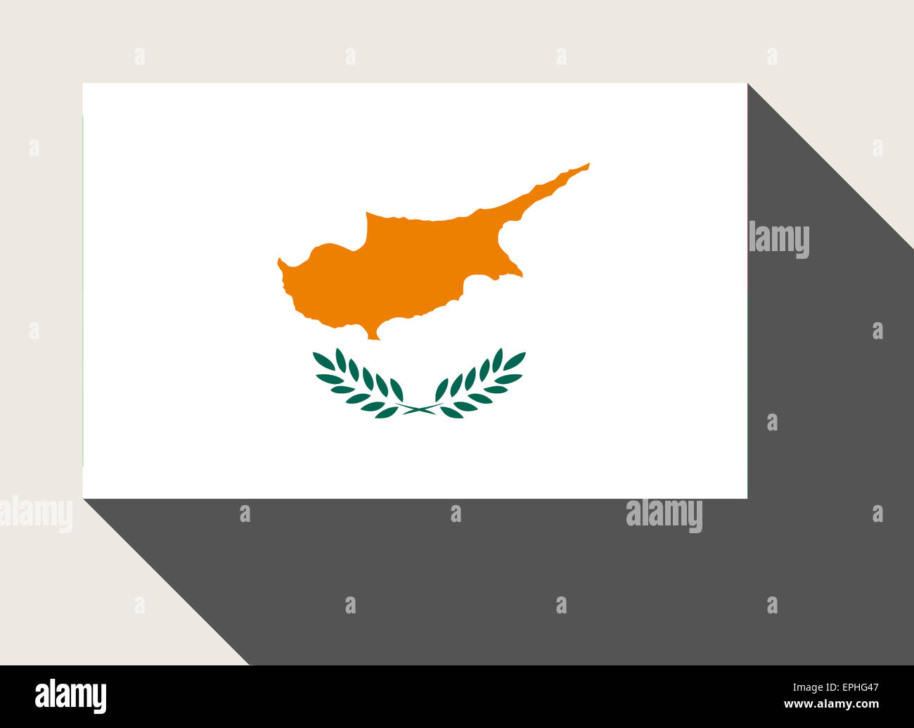 Cyprus flag in flat web design style. - Stock Image