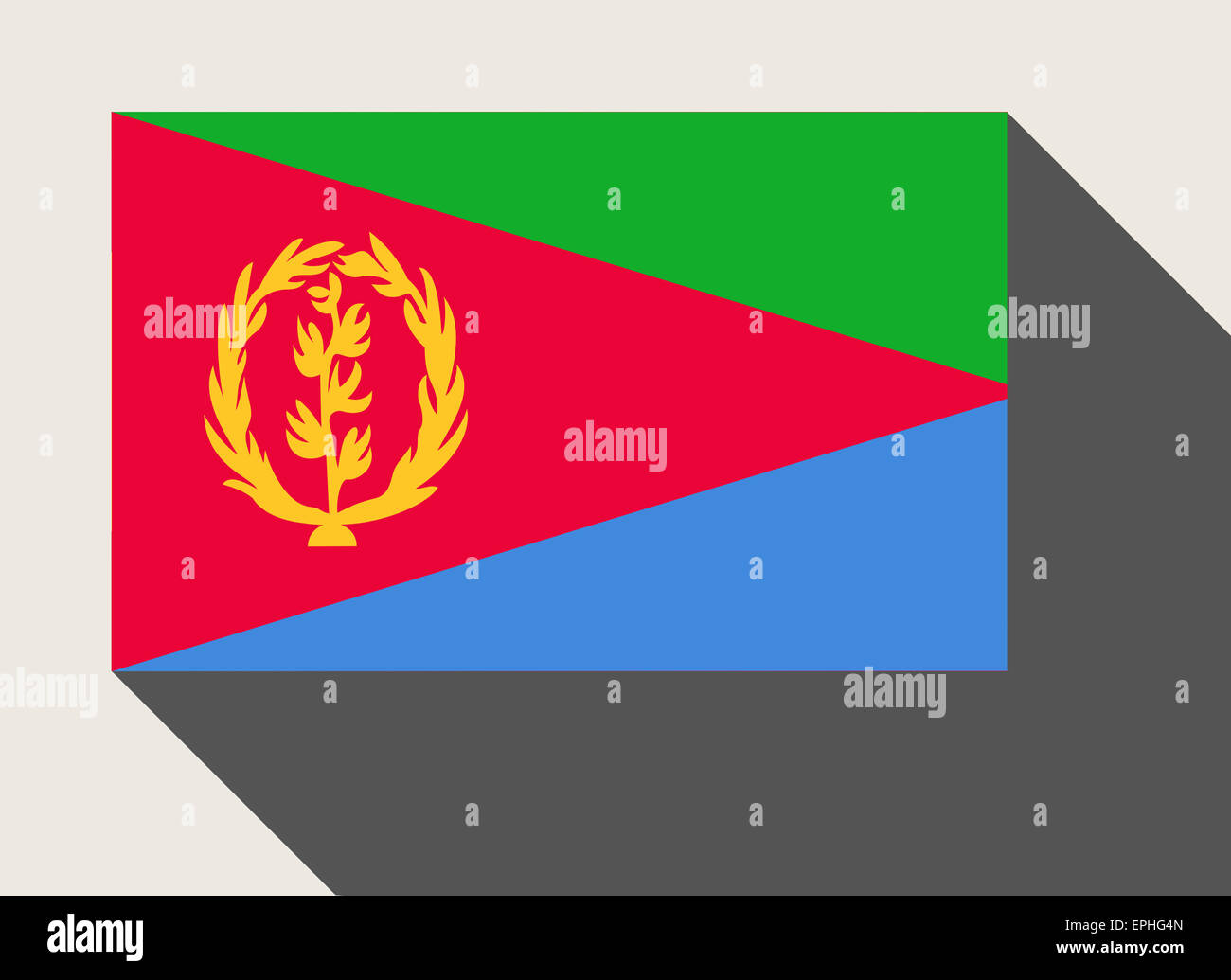 Eritrea flag in flat web design style. Stock Photo
