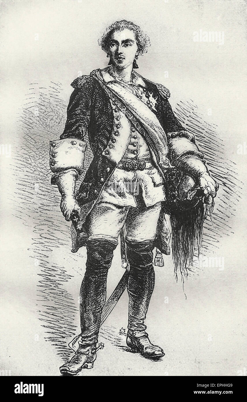 Marshall Saxe - Maurice, Count of Saxony was a Saxon soldier in French service who became a Marshal and later also - Stock Image