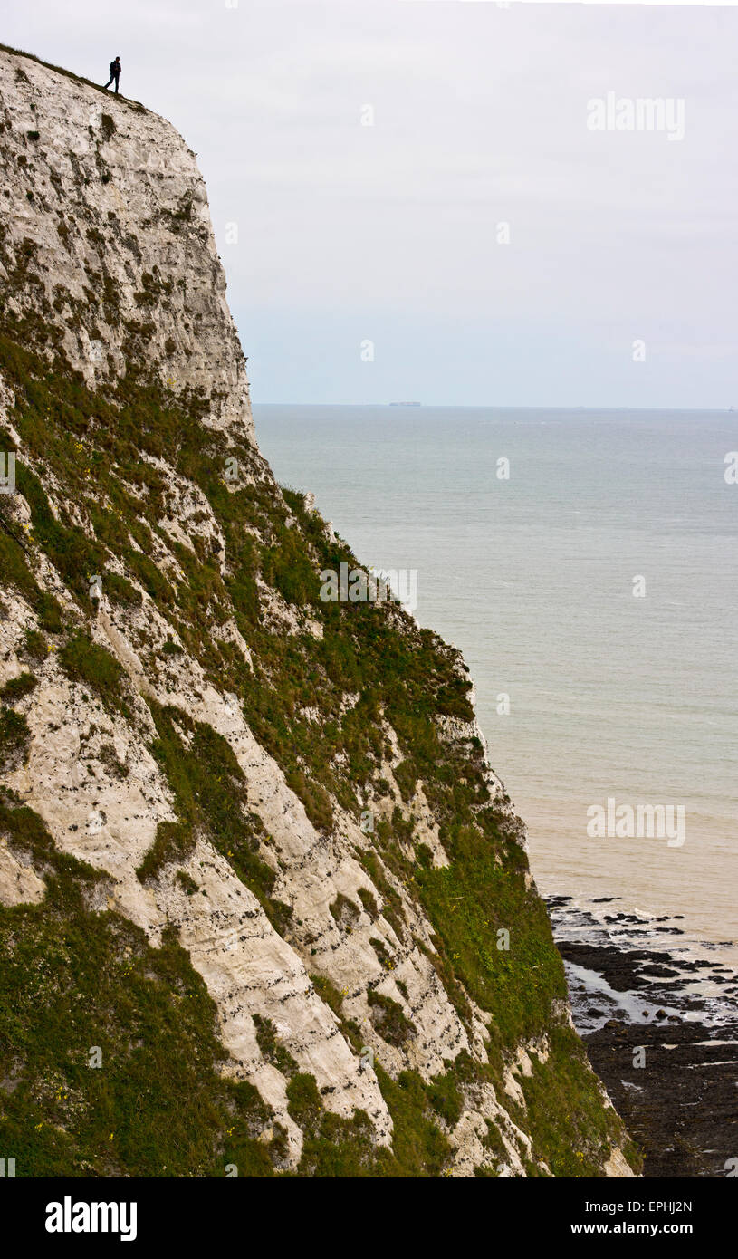 White cliffs of Dover Langdon - Stock Image