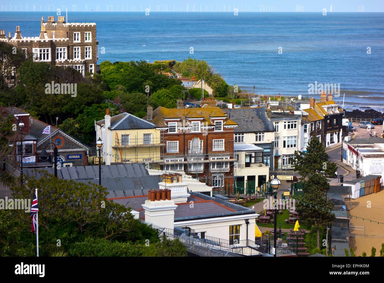 Broadstairs Town sea - Stock Image