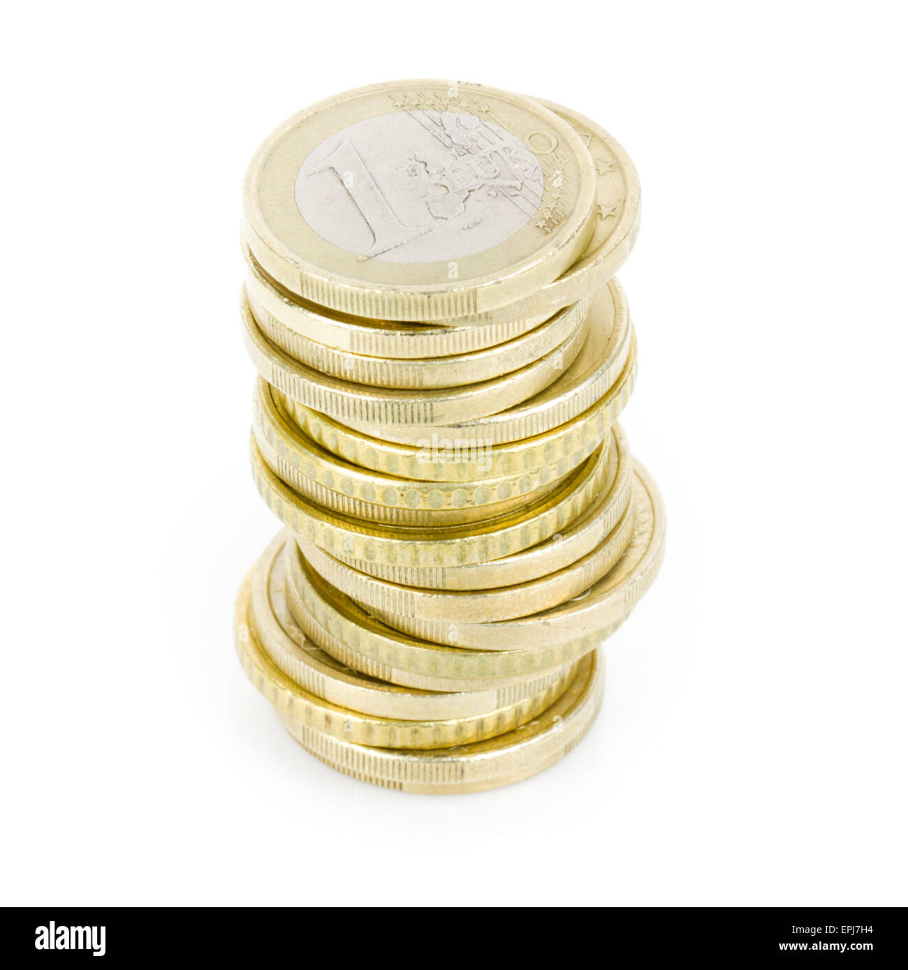 stacked coins - Stock Image
