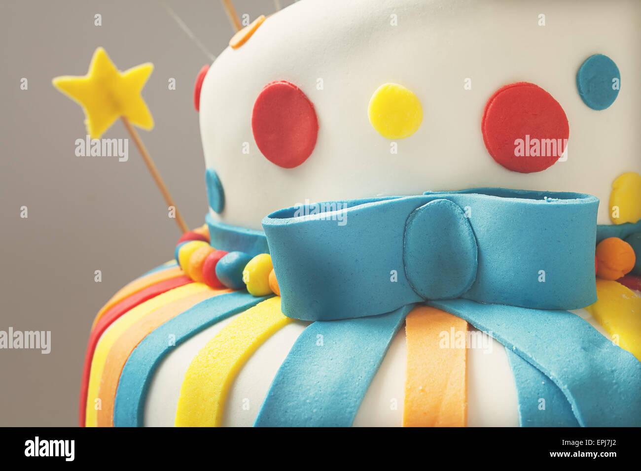 Wondrous Funny Birthday Cake Details Sweet Colorful Decoration Stock Photo Funny Birthday Cards Online Barepcheapnameinfo