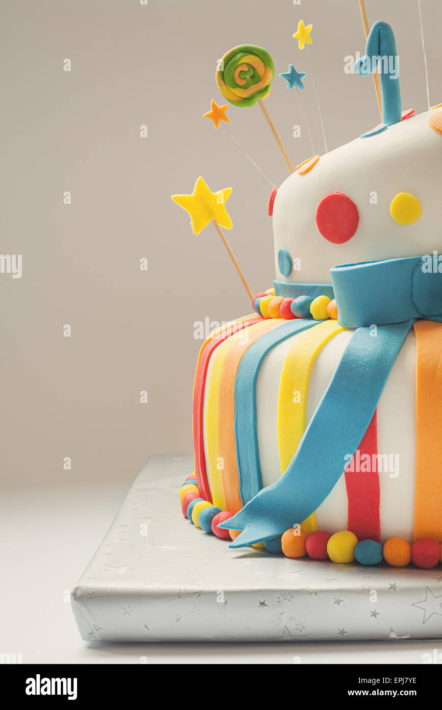 Pleasing Funny Birthday Cake With Number One On Top Sweet Colorful Stock Funny Birthday Cards Online Barepcheapnameinfo