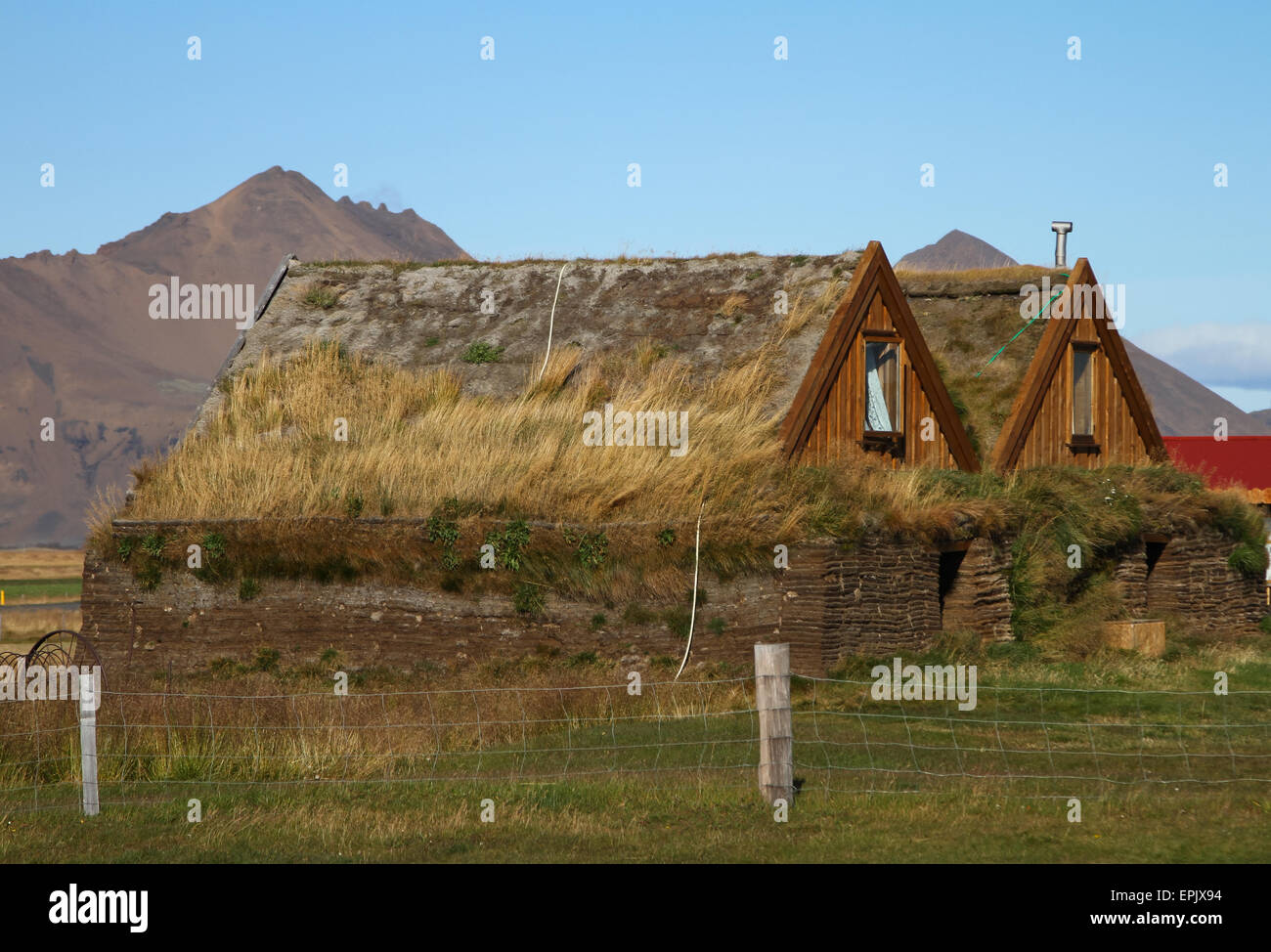 Farm Buildings In Iceland Highland House, Farm, Landscape, Old, Thatched,  Skye, Sky, Grass, Building, Rural, Vintage, Blue, Cott
