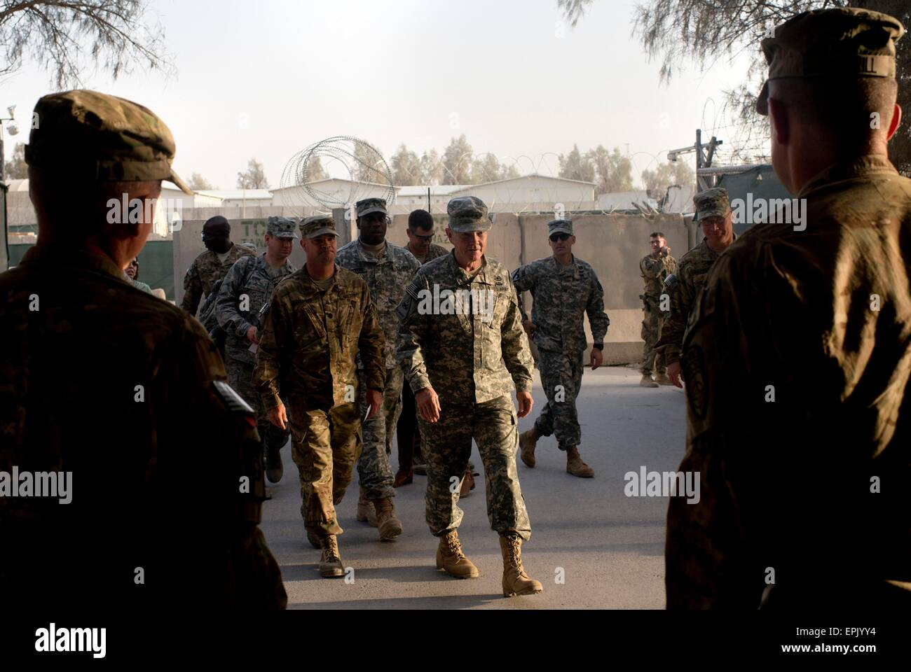 U.S. Chairman of the Joint Chiefs of Staff General Martin Dempsey arrives at Kandahar Regional Medical Hospital - Stock Image