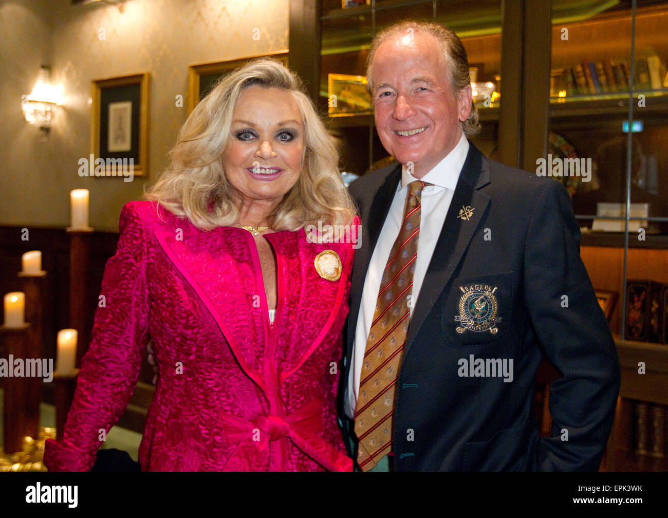Rust, Germany - May 4, 2015: Eagles Charity Golf Cup and Gala at Golfclub Breisgau and Europa Park, Rust with TV - Stock Image
