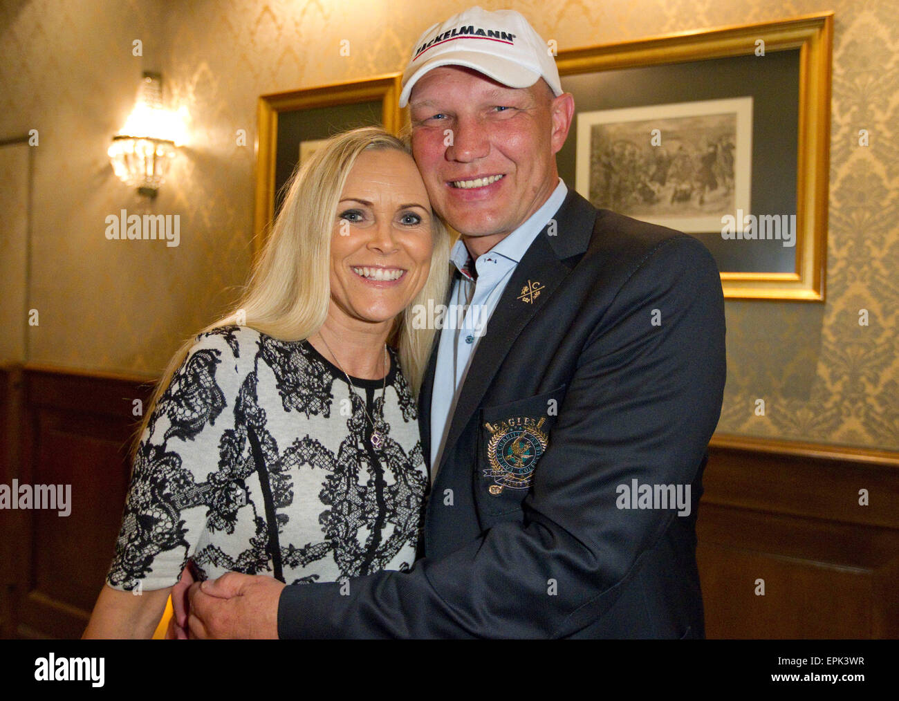 Rust, Germany - May 4, 2015: Eagles Charity Golf Cup and Gala at Golfclub Breisgau and Europa Park, Rust with ex - Stock Image
