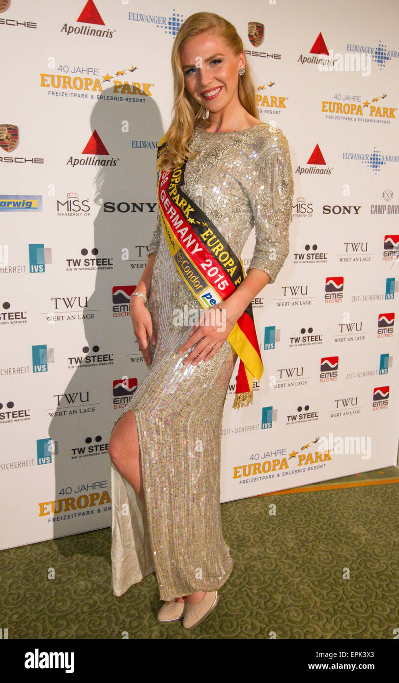 Rust, Germany - May 4, 2015: Eagles Charity Golf Cup and Gala at Golfclub Breisgau and Europa Park, Rust with Miss - Stock Image