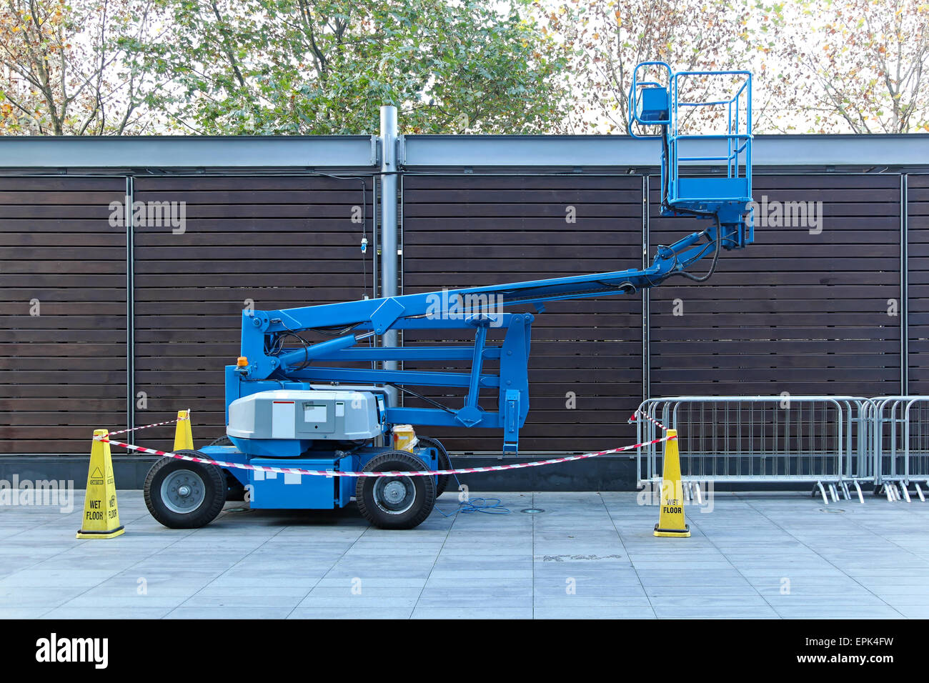 Telescopic boom lift Stock Photo