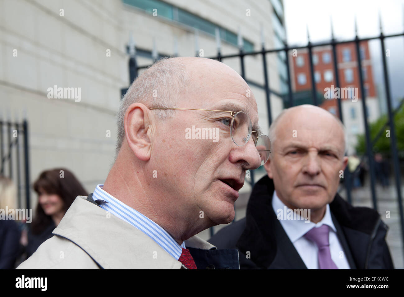 Laganside Courts, Belfast, UK. 19th May, 2015. Robin Allen QC (L) and Michael Wardlow(C) from the Equality Commission - Stock Image