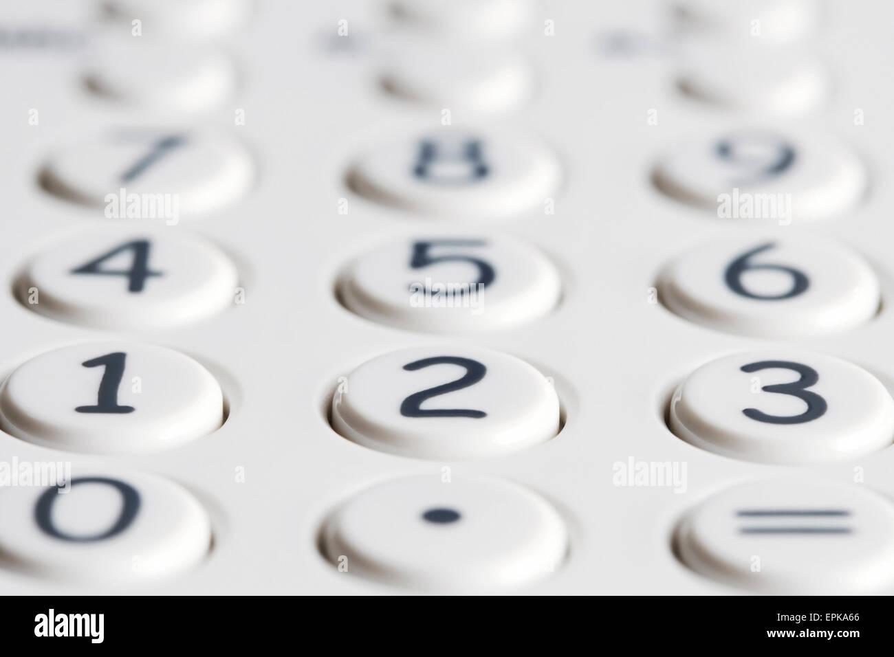 Closeup of calculator keypad - Stock Image