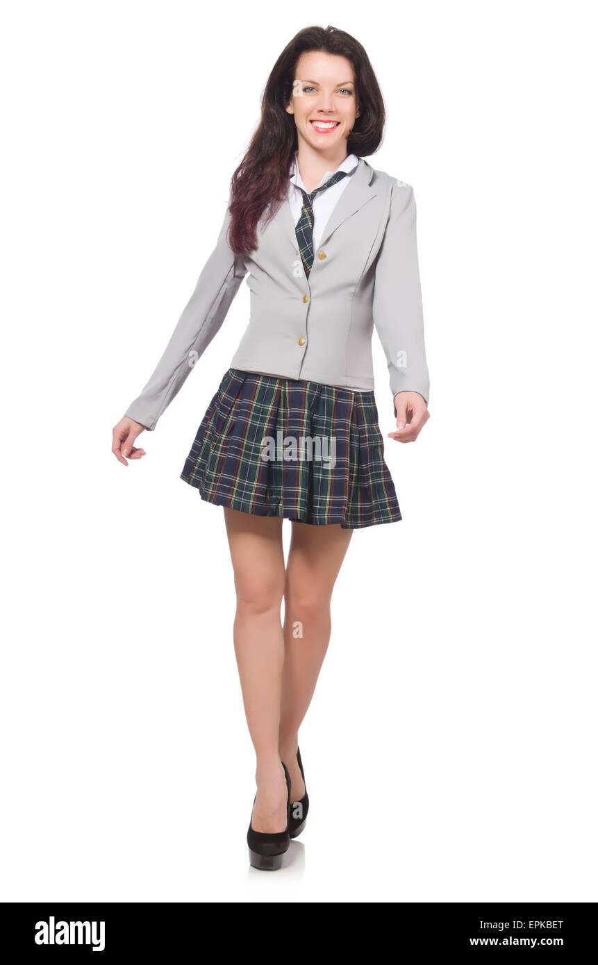 9cdfd69b55 Teenager Miniskirt School Stock Photos & Teenager Miniskirt School ...