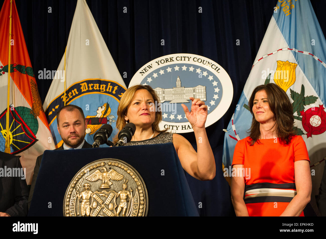 New York City Council Speaker Melissa Mark-Viverto and members of the New York City Council hold a news conference - Stock Image