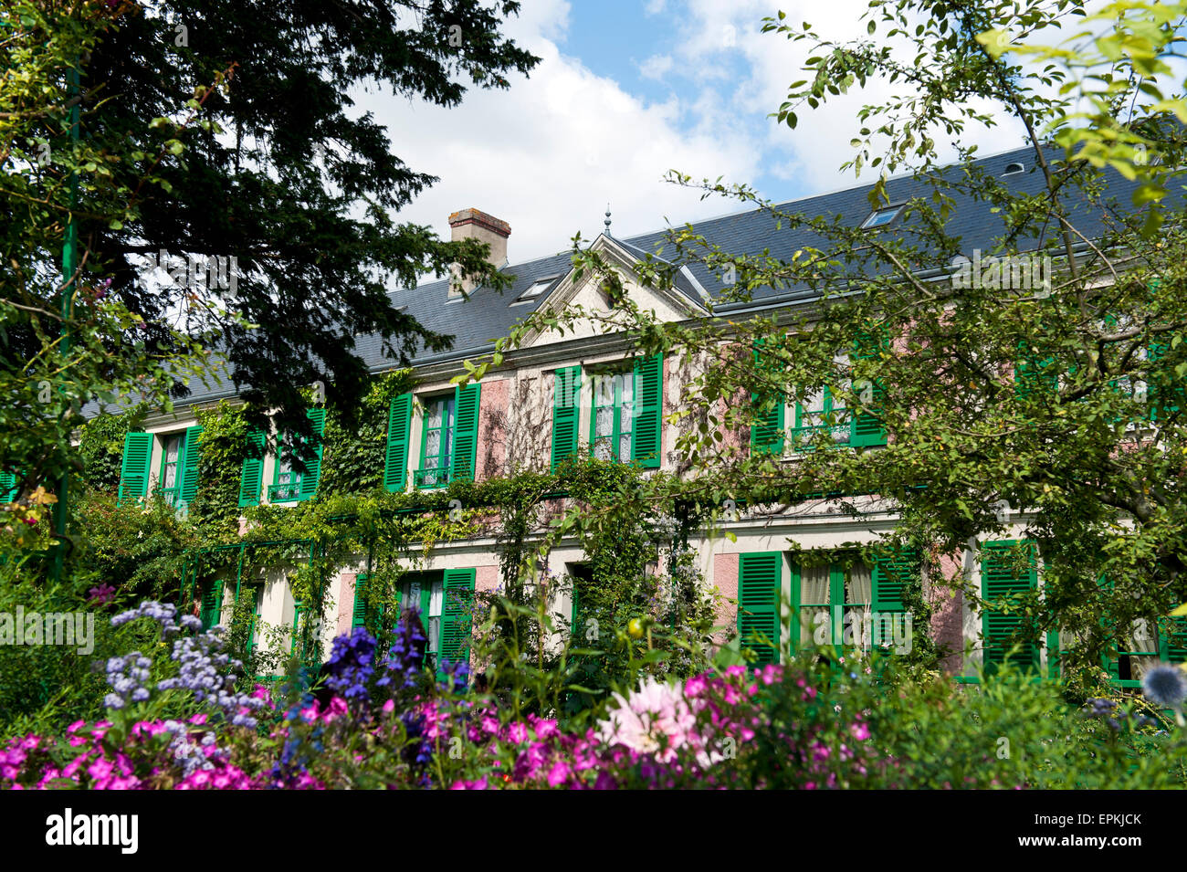 Claude Monet House in Giverny departement eure france europe Stock Photo