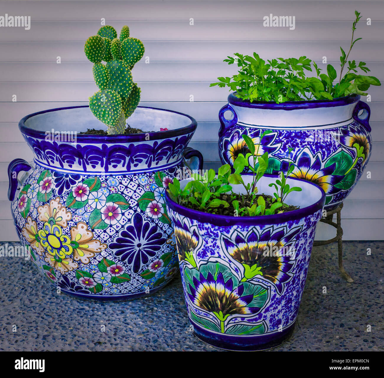 hanging planters outdoor planter pdx wayfair ceramic mexican plow hearth talavera