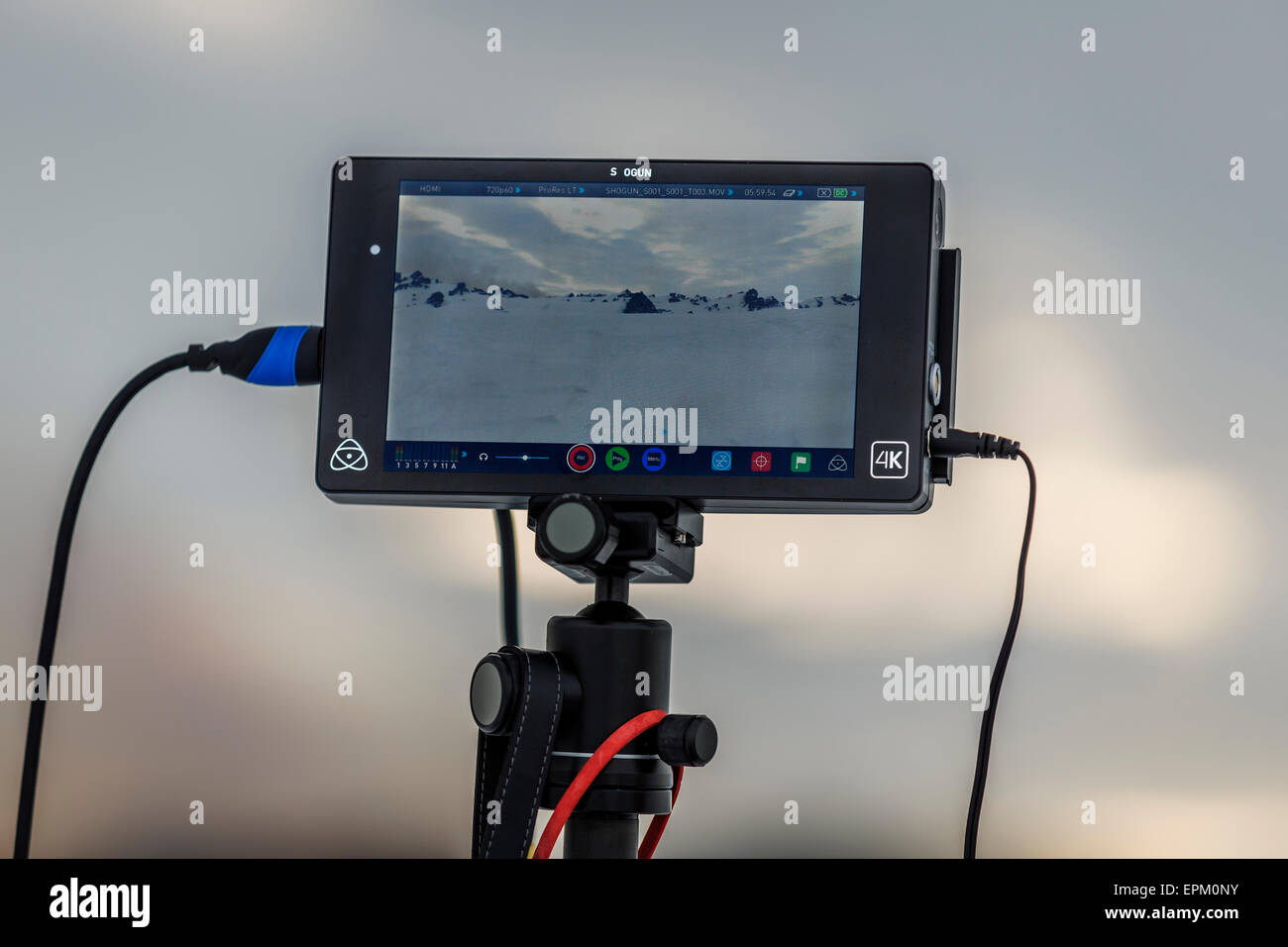Screen for Radio controlled Drone. Eruption at the Holuhraun Fissure, Bardarbunga Volcano,Iceland - Stock Image