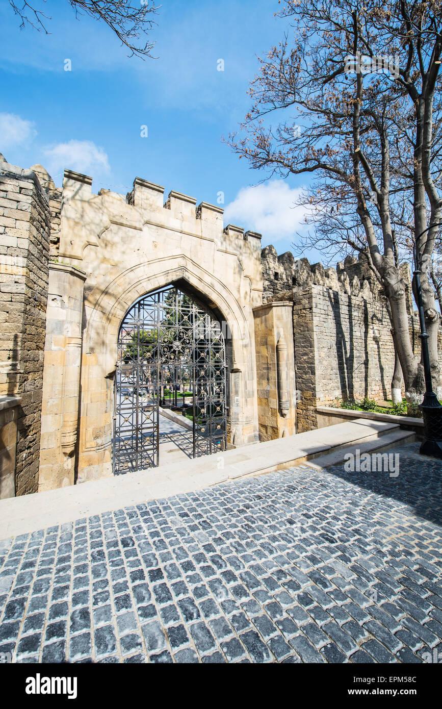 Old gates in Icheri Sheher, Baku Azerbaijan - Stock Image