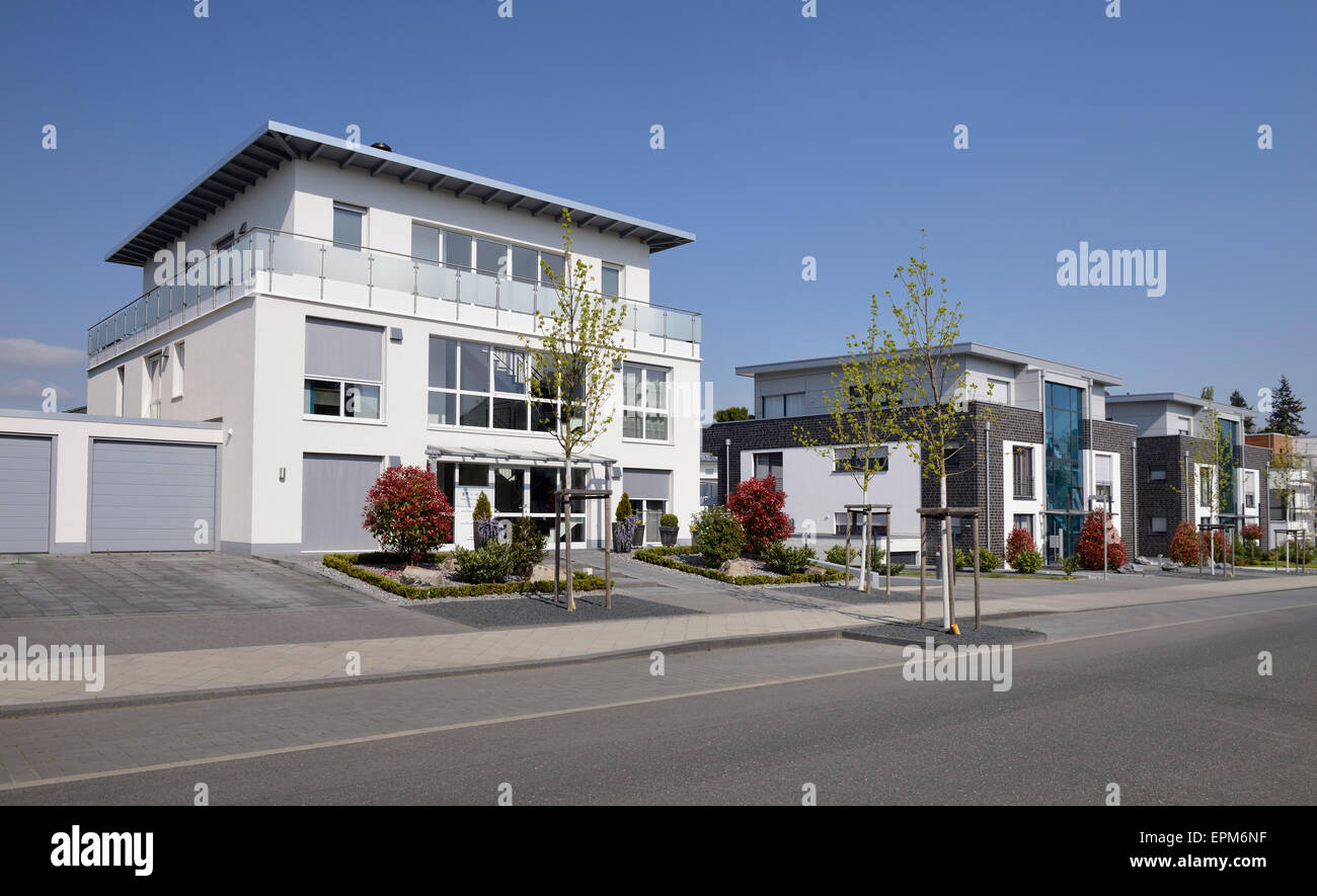 Germany, Moenchengladbach, new built apartment buildings - Stock Image