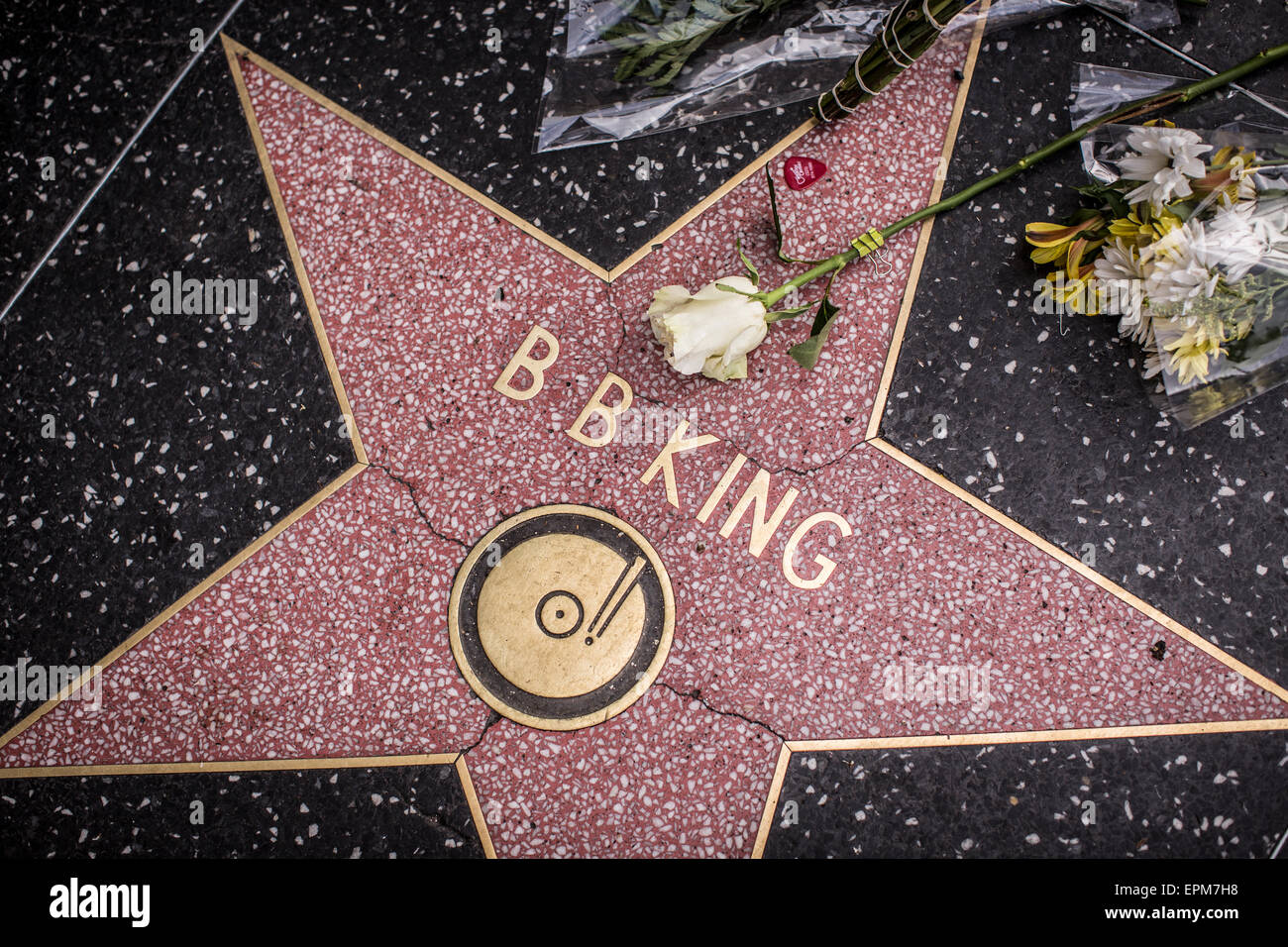B.B. King star on the Hollywood Walk of Fame the day after the legendary blues musician died at his home in Las - Stock Image