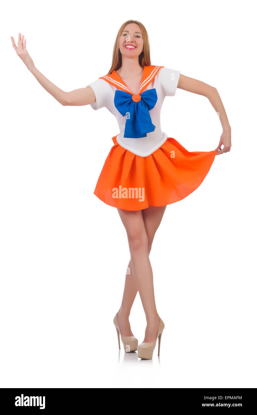 Female model in sailor moon costume  sc 1 st  Alamy & Female model in sailor moon costume Stock Photo: 82811224 - Alamy