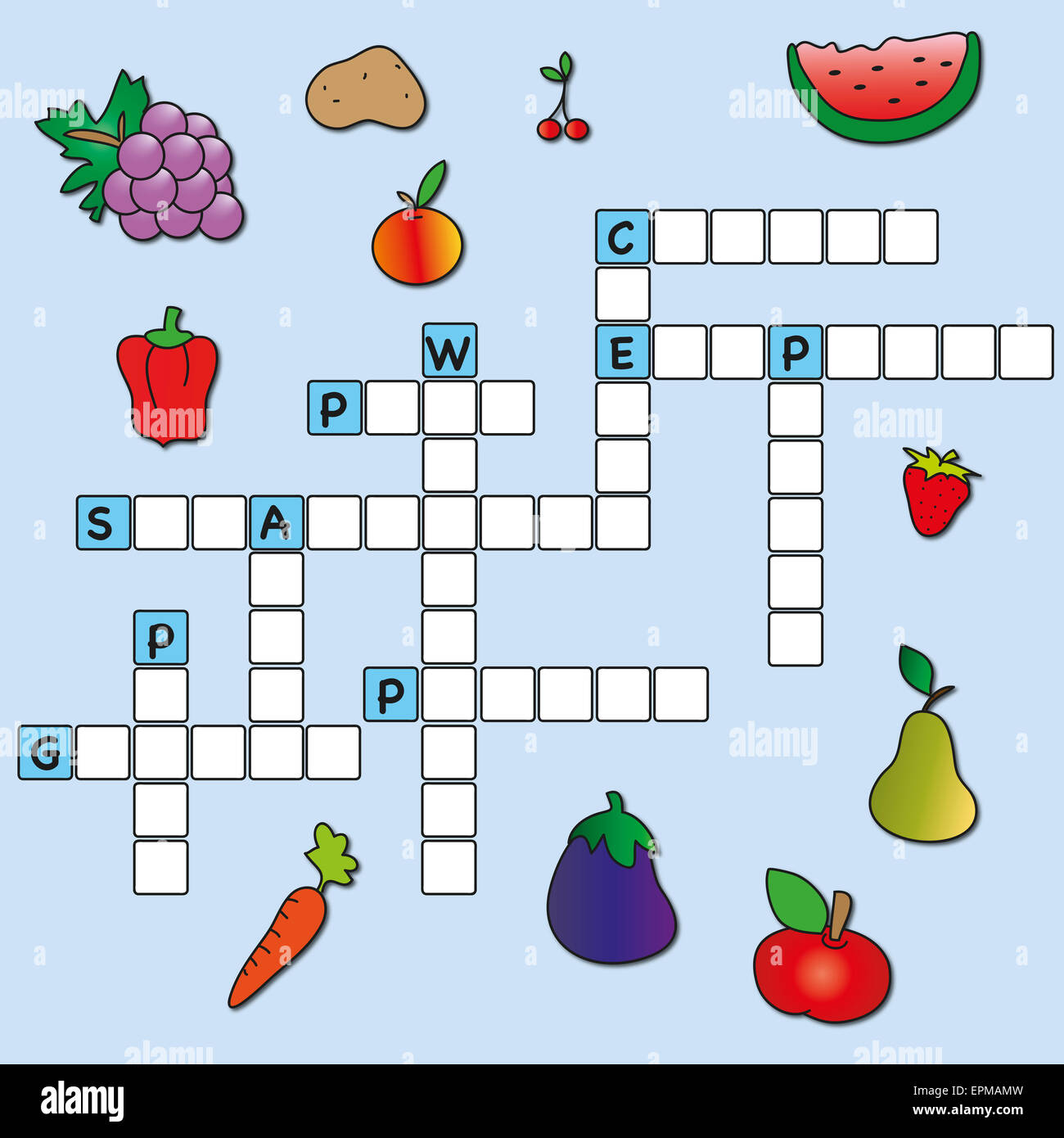 Easy Game For Children Crossword