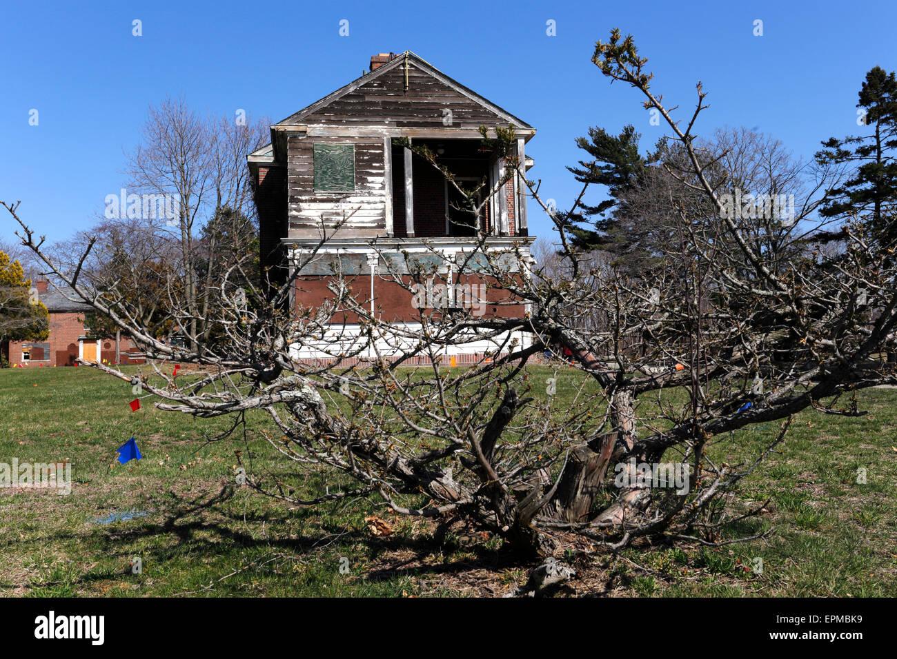 Abandoned Psychiatric Hospital Kings Park Long Island New York - Stock Image