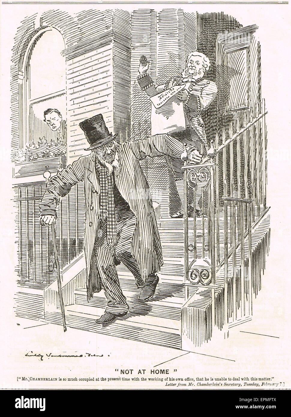 Punch cartoon 1899 Joseph Chamberlain Stock Photo