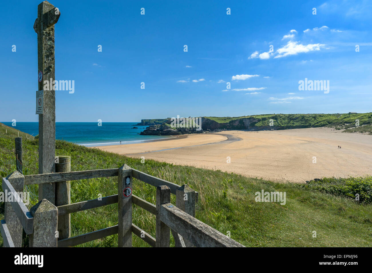 Broad Haven South beach. Pembrokeshire. Wales - Stock Image