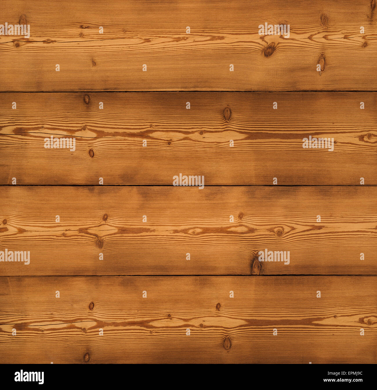 the brown old wood texture with knot - Stock Image