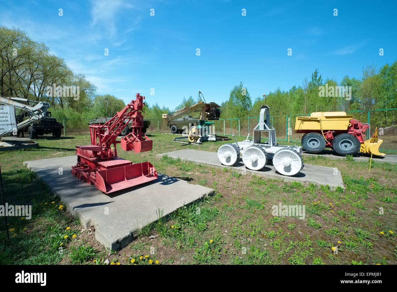 City of Chernobyl Ukraine Military machines - Stock Image