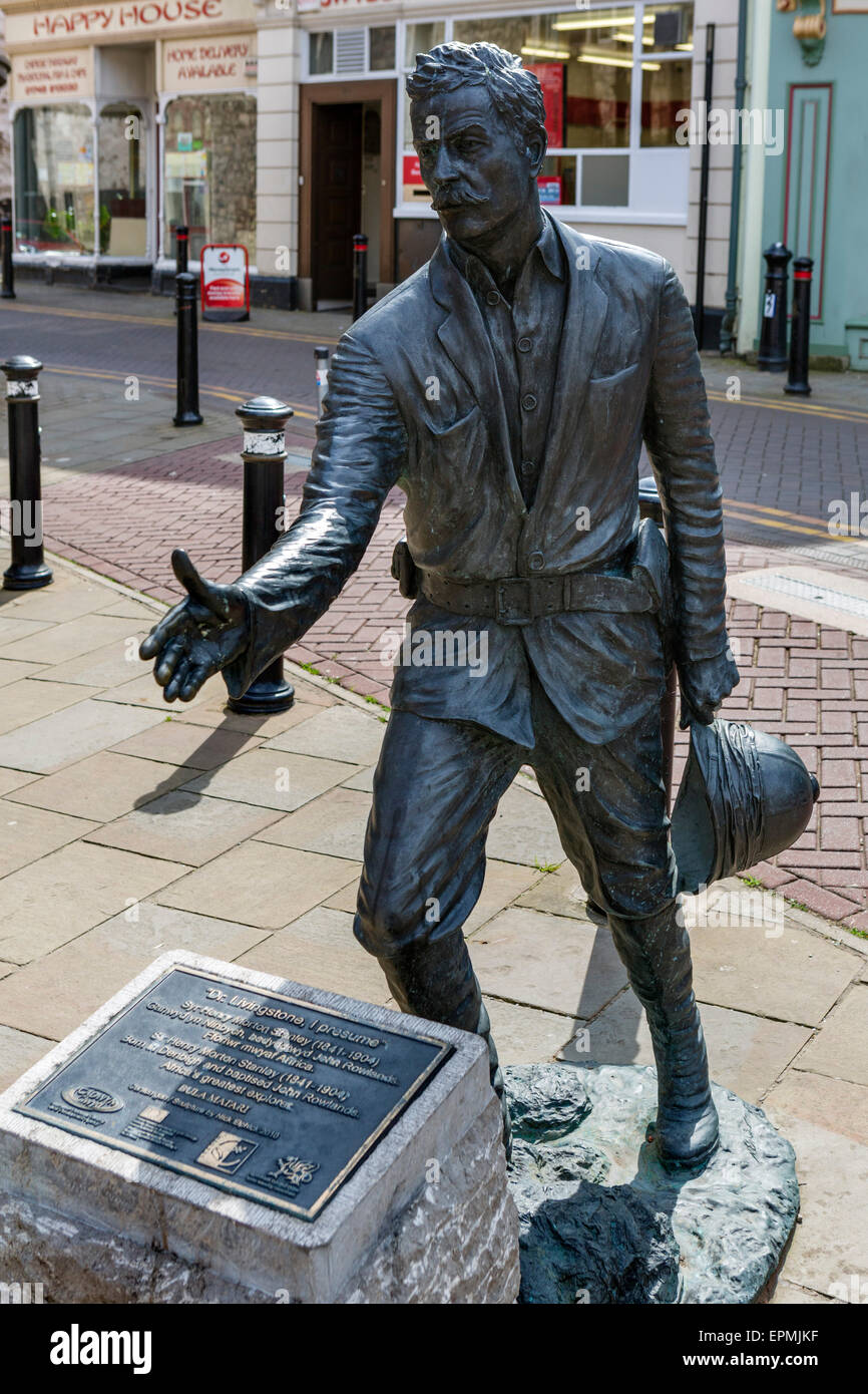 U0027Dr Livingstone I Presumeu0027, Nick Elphicku0027s 2010 Statue Of Explorer Sir  Henry Morton U0027