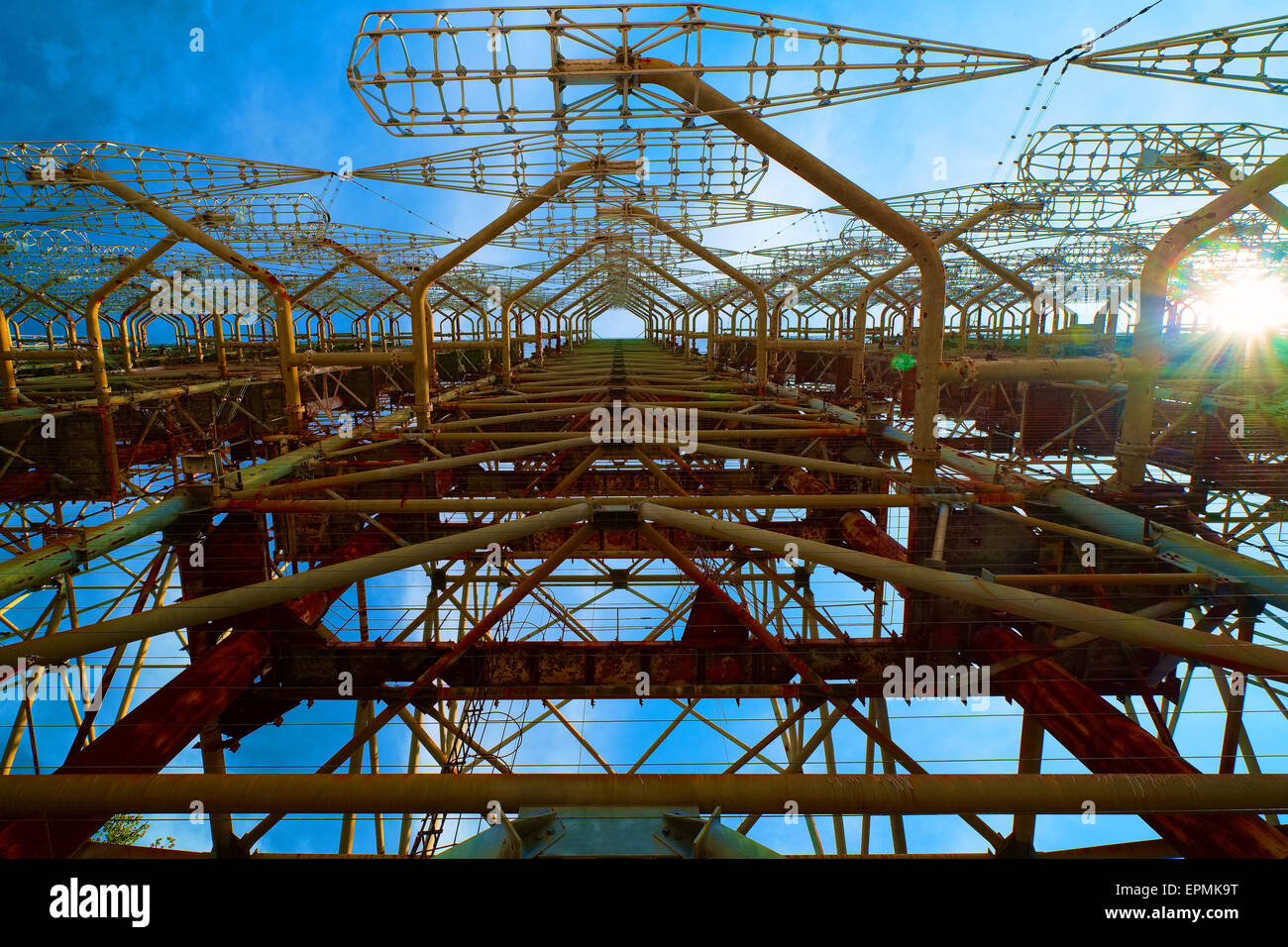 Russian Woodpecker Chernobyl Ukraine - Stock Image