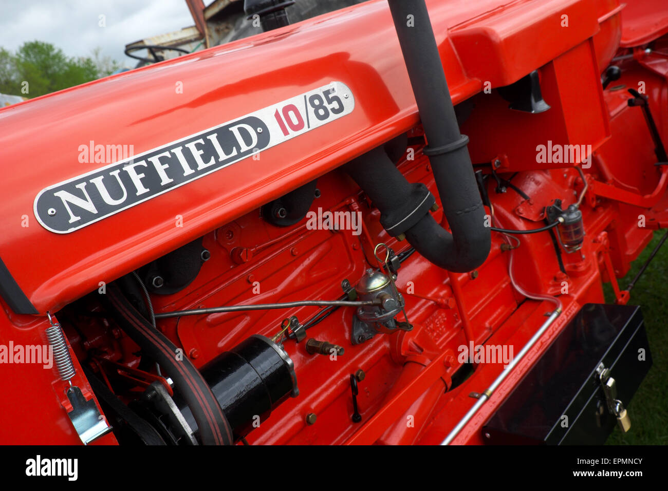 Nuffield 10/85 old vintage tractor - Stock Image