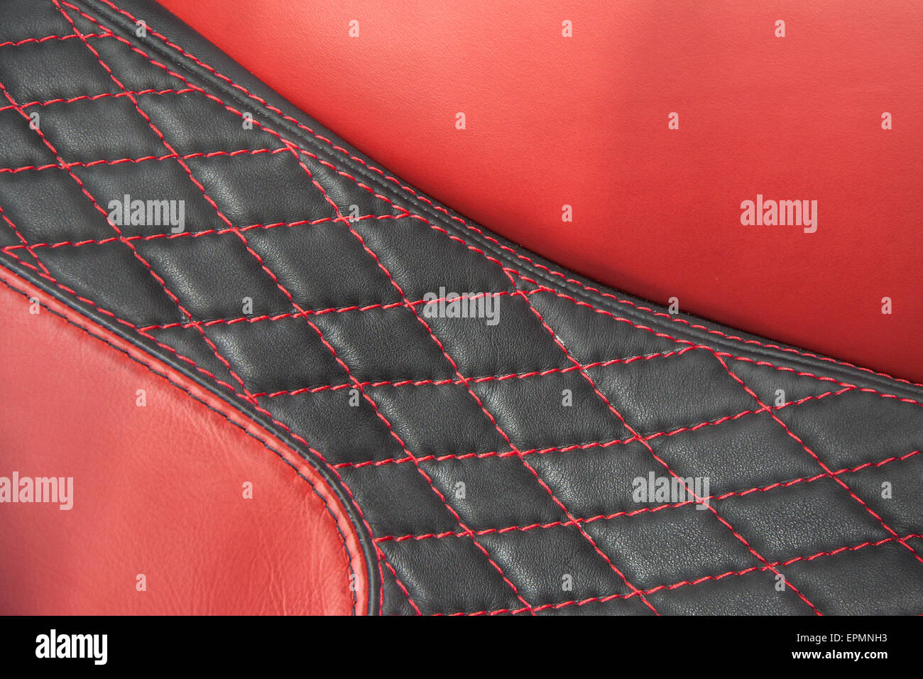 Red upholstery - Stock Image
