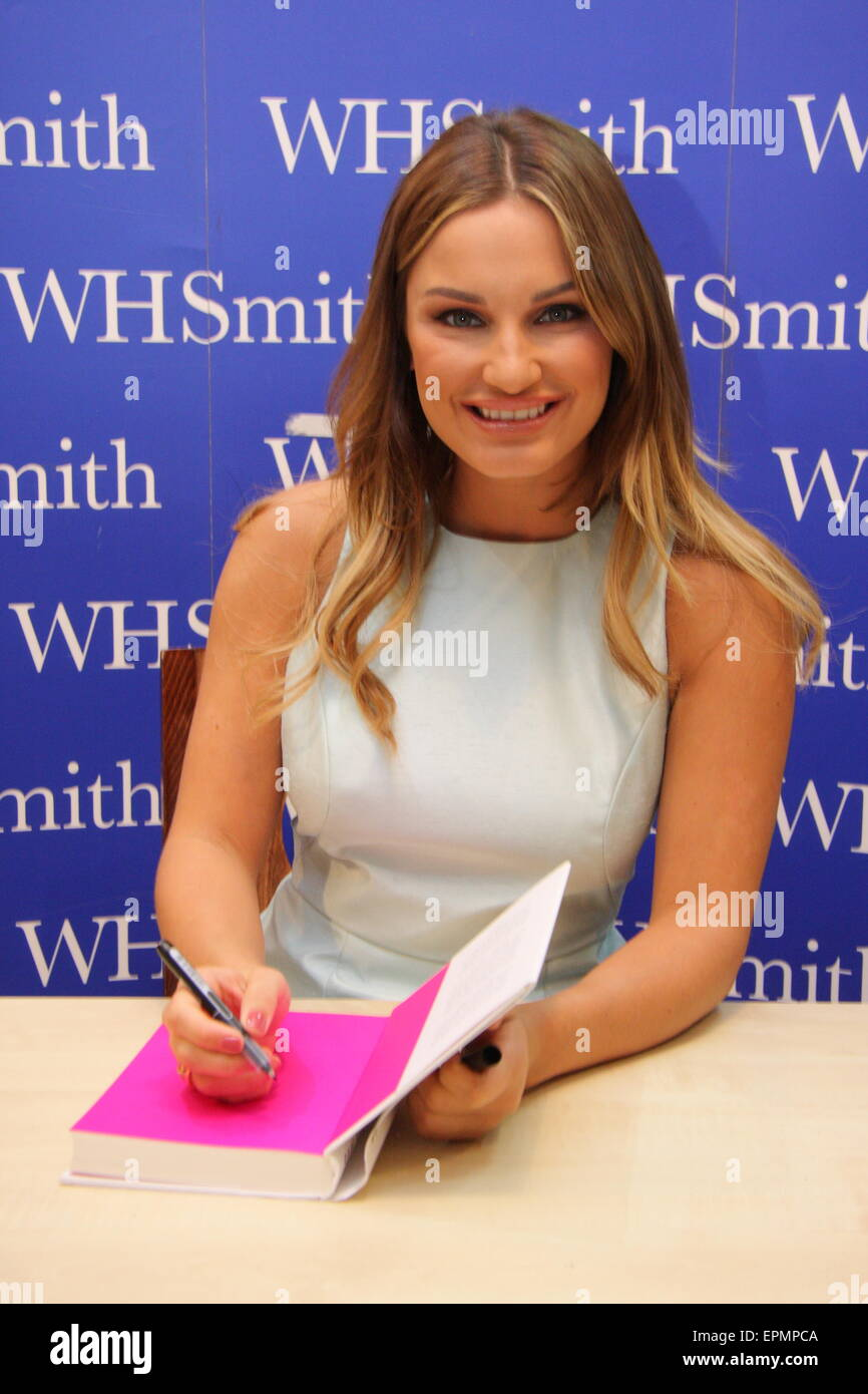 Reality TV  star, Sam Faiers signs her memoir, 'Secrets and Lies' at Meadowhall shopping centre, Sheffield, - Stock Image
