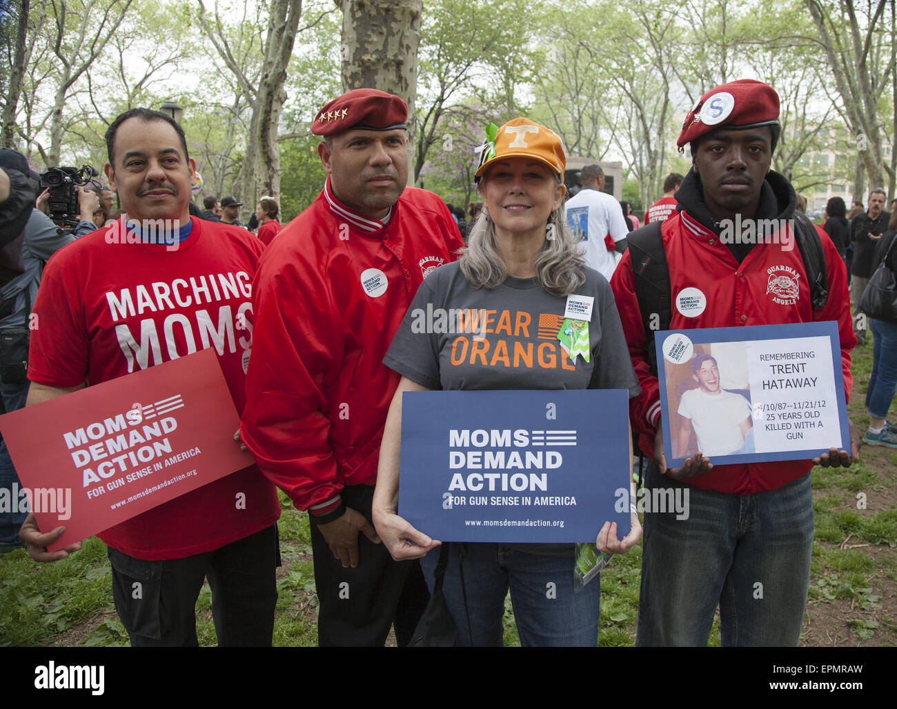 3rd Annual Walk Across The Brooklyn Bridge march and rally against gun violence sponsored by 'Moms Demand Action' - Stock Image