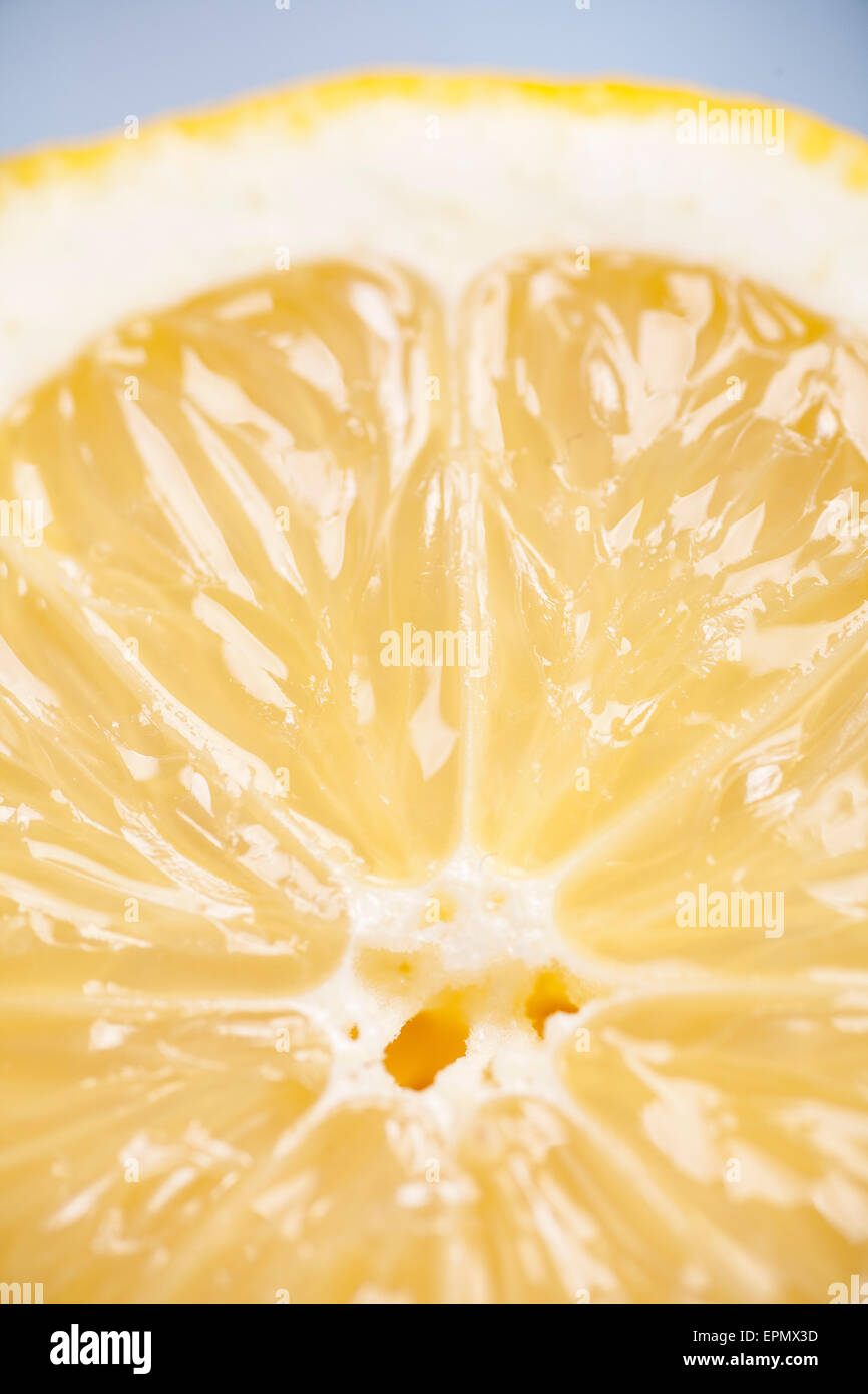 Close up of a juice ripe lemon - Stock Image
