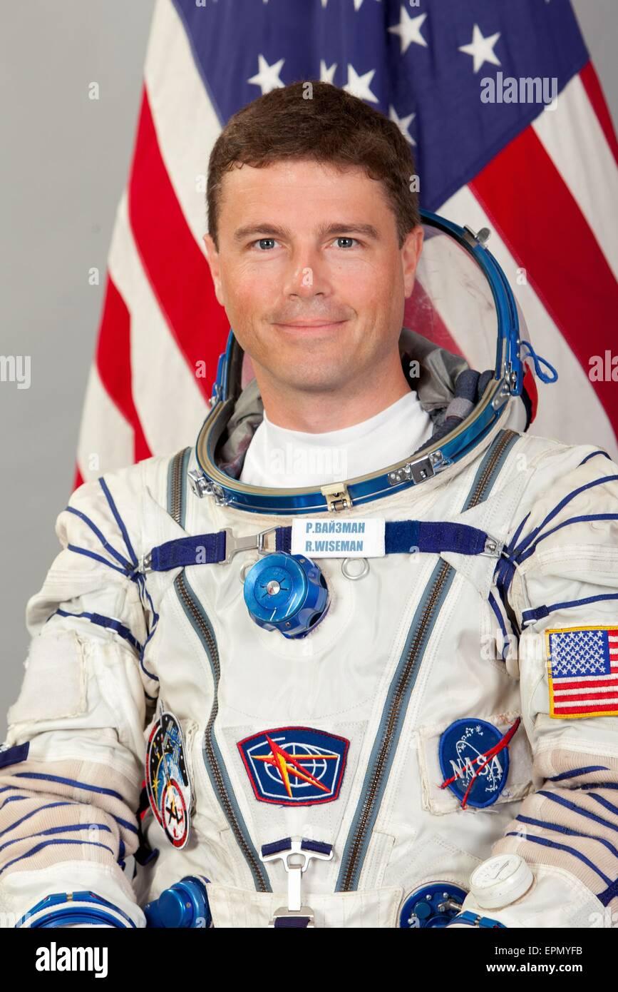International Space Station Expedition 40 crew member NASA astronaut Reid Wiseman portrait at the Gagarin Cosmonaut - Stock Image