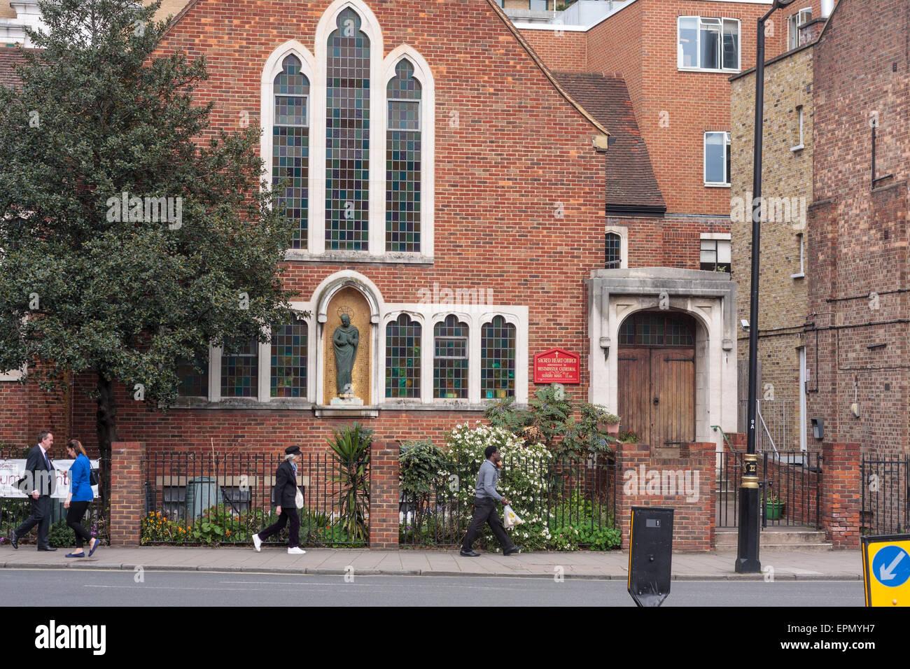 Exterior Of Sacred Heart Roman Catholic Church, Horseferry Road, London, UK