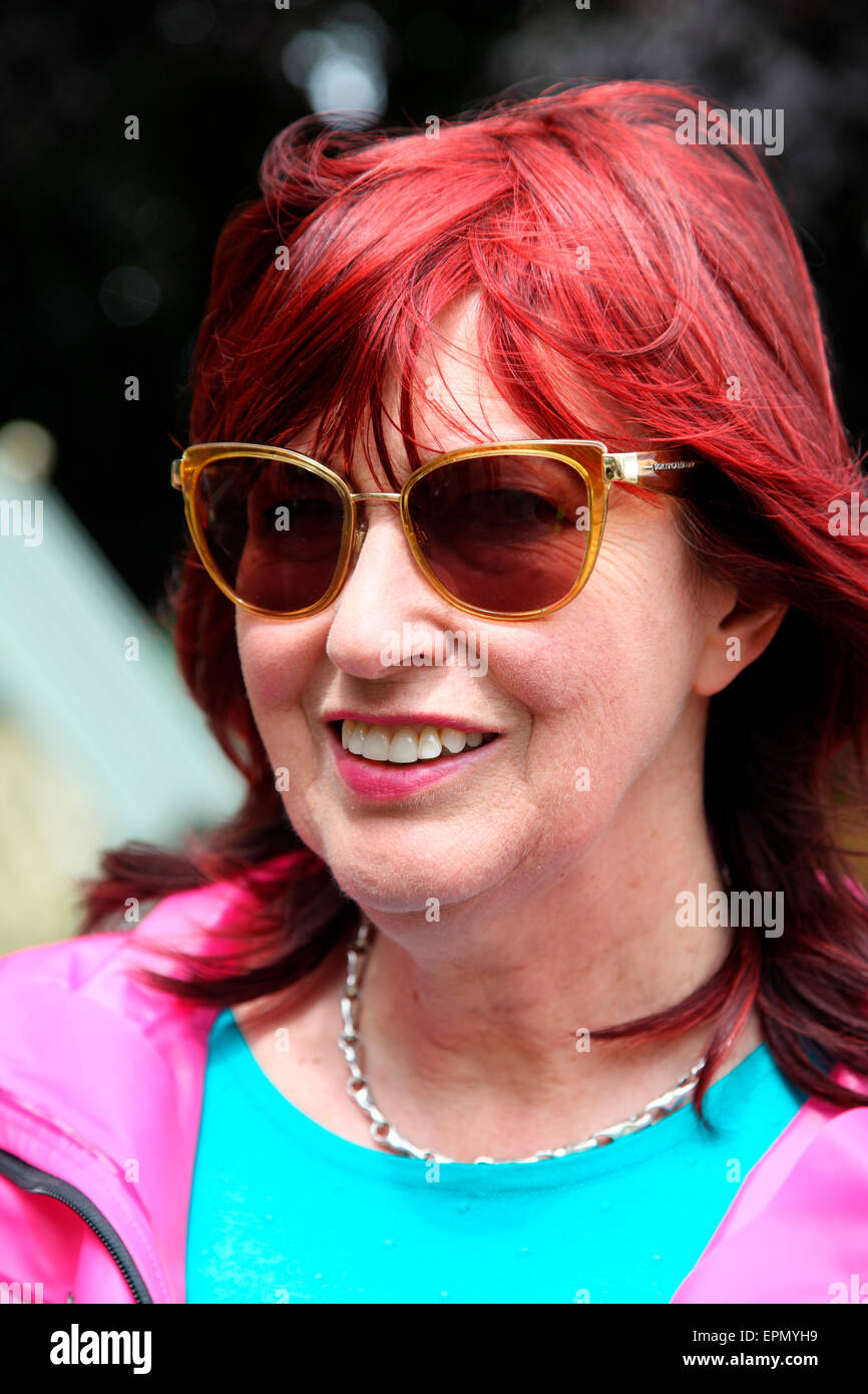 Janet Street Porter at the Chelsea Flower Show - Stock Image