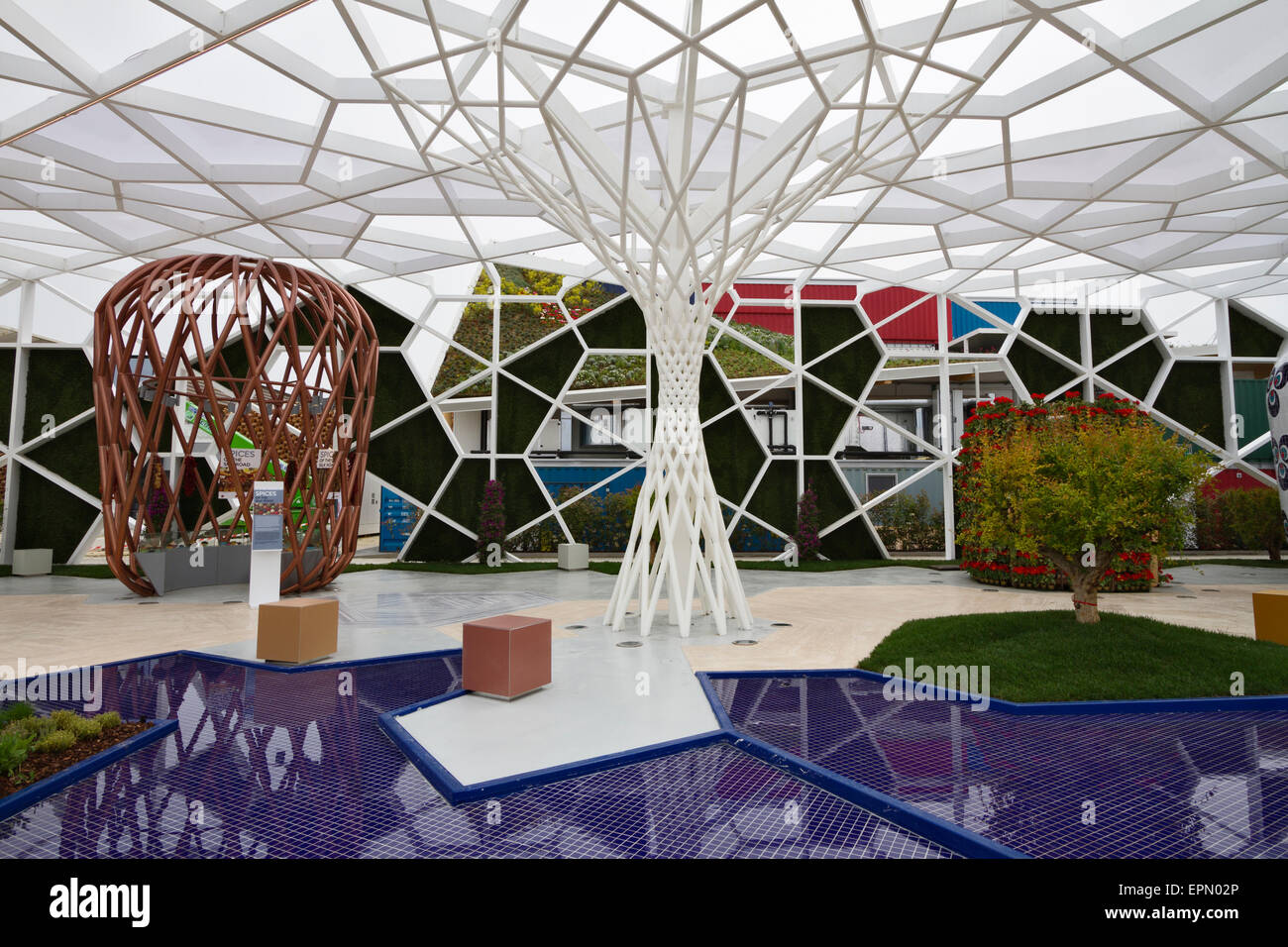 Milan, Italy, 5th May 2015. The Turkish pavilion at Expo 2015. - Stock Image