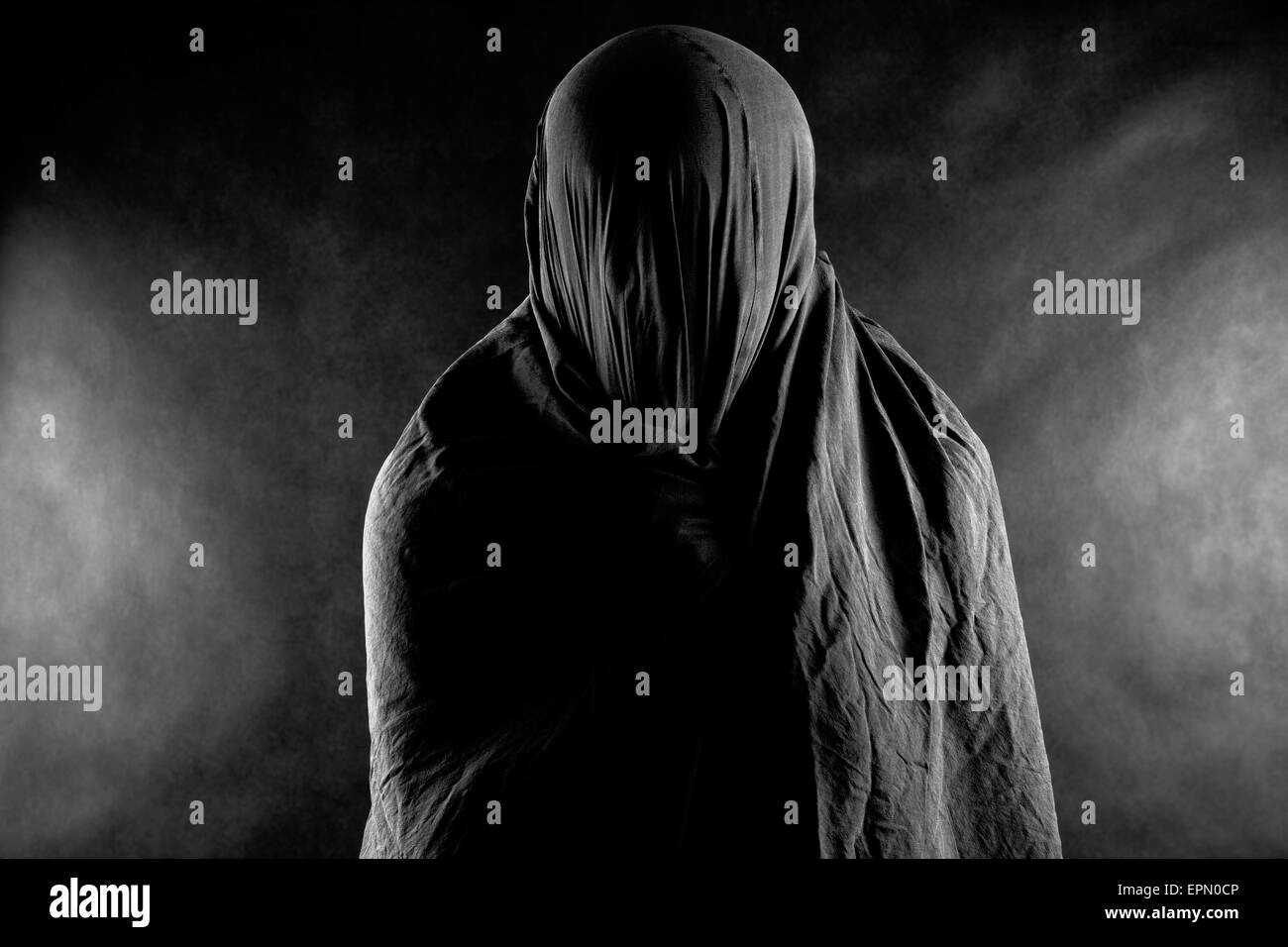 Ghost in the dark - Stock Image