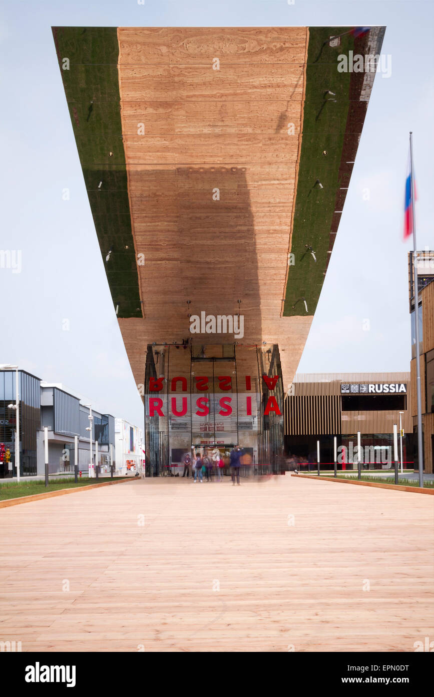 Milan, Italy, 5th May 2015. The Russian pavilion at Expo 2015. - Stock Image
