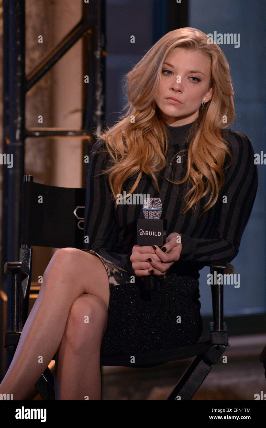 Aol S Build Series Present Actress Natalie Dormer And Director Stock Photo Alamy