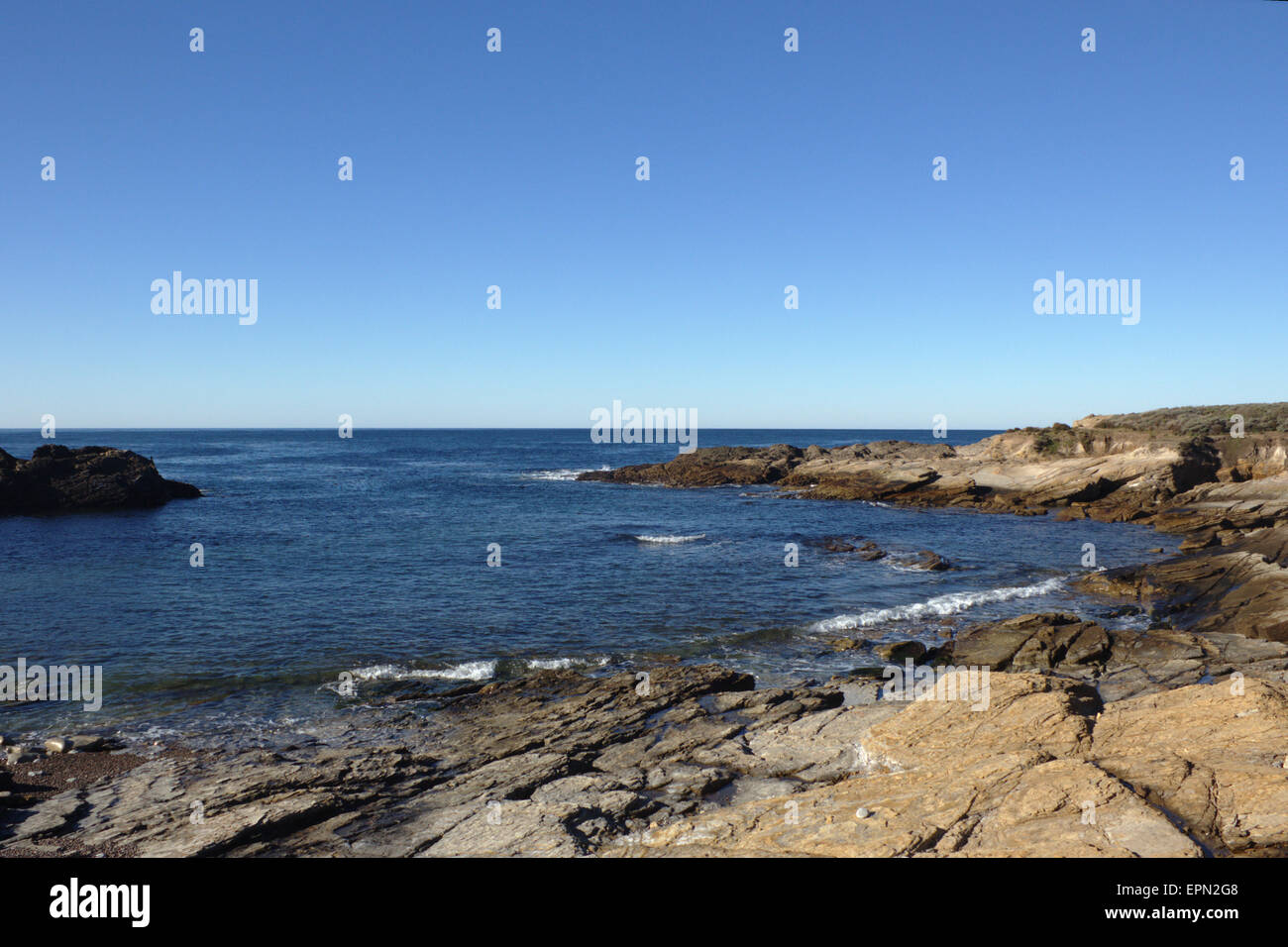 A view of Point Lobos State Reserve. Stock Photo