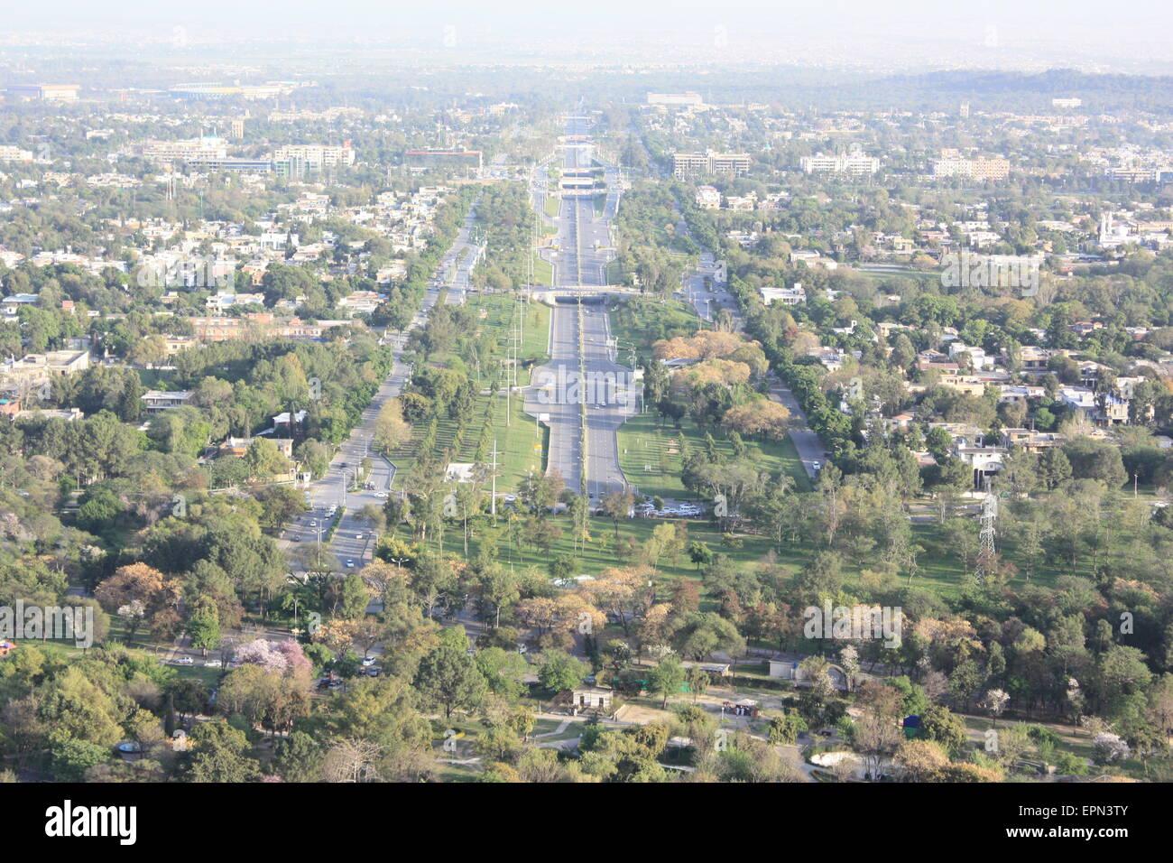 beautiful scenery city of Pakistan capital - Stock Image