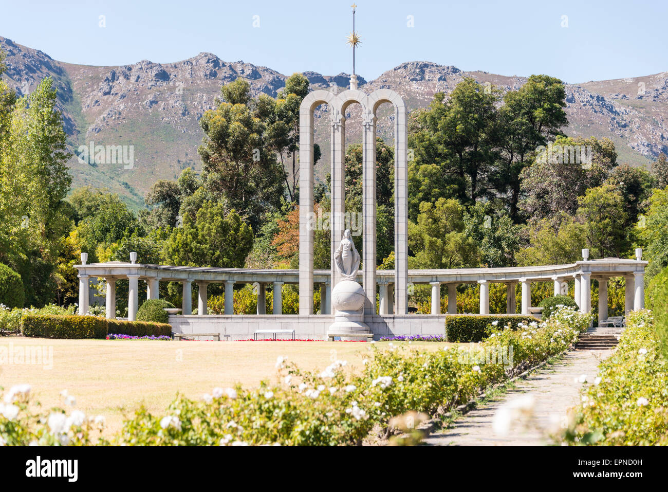 The Huguenot Memorial Monument, Franschhoek, Cape Winelands District, Western Cape Province, Republic of South Africa - Stock Image