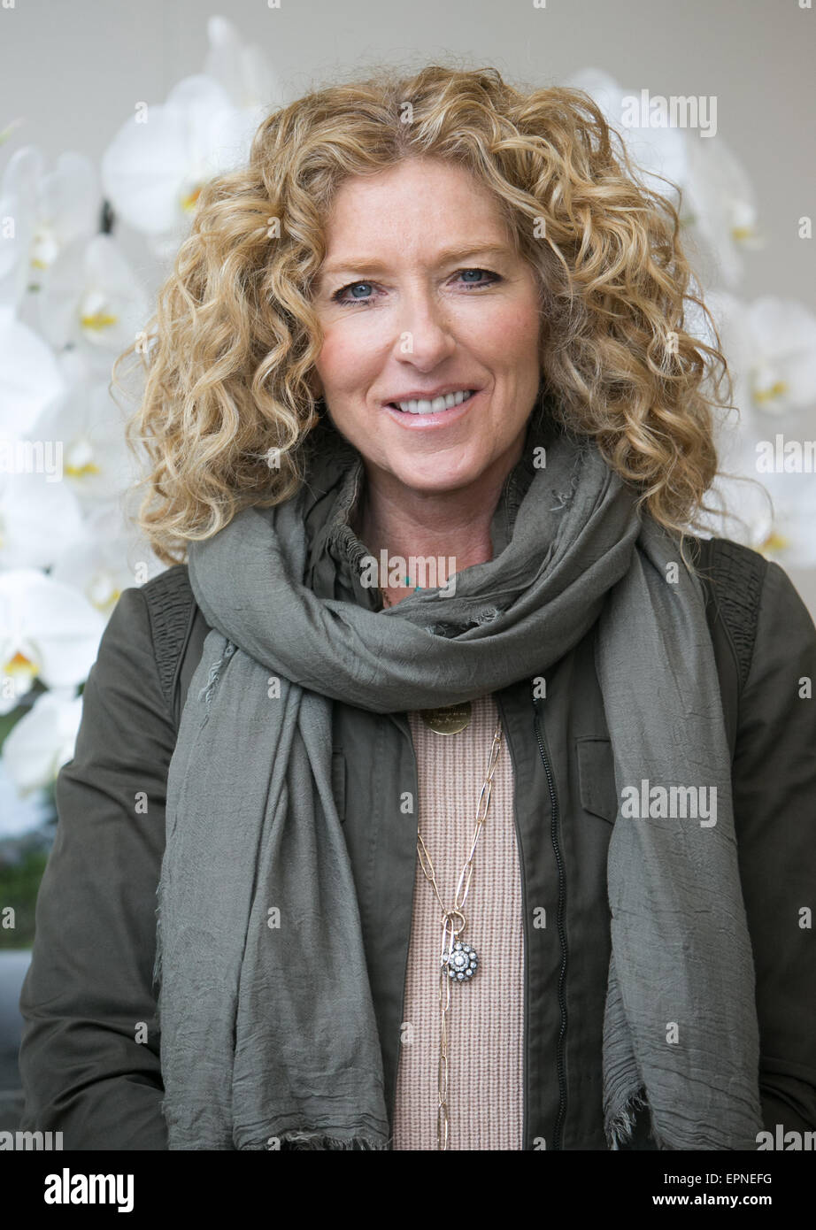 Interior Designer,Kelly Hoppen MBE at the RHS Chelsea Flower Show 2015 - Stock Image